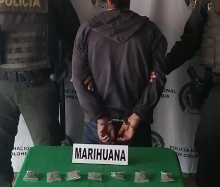 Hombre fue capturado con marihuana en el barrio Versalles de Calarcá
