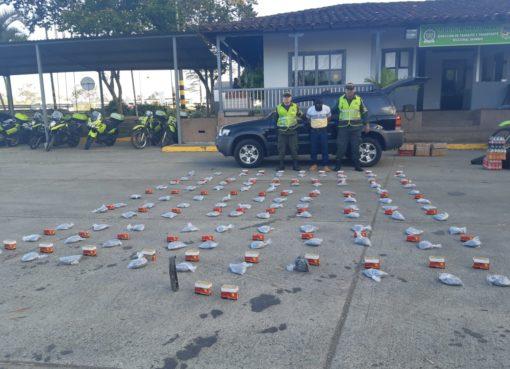La policía de carreteras del Quindío capturó a un hombre de 57 años con municiones