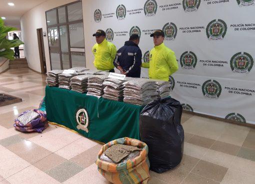 154.792 gramos de marihuana fueron incautadas por la policía del Quindío