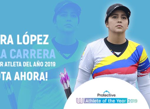 La arquera colombiana Sara López Bueno, clasificó a la final para convertirse en la Atleta del Año 2019 para la Asociación The World Games