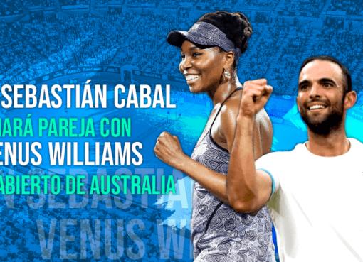 Venus Williams será la pareja de dobles mixtos del colombiano Juan Sebastián Cabal en el Abierto de Australia