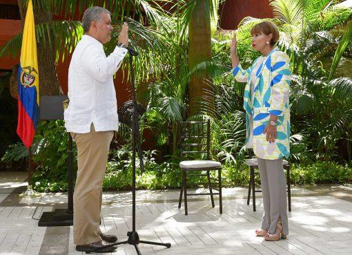 Duque posesionó a la nueva Ministra del Interior, Alicia Arango Olmos
