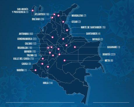 Colombia tiene 539 casos de COVID-19 y falla una máquina de diagnósticos