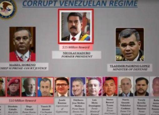 EEUU ofreció 15 millones de dólares de recompensa por información que lleve al arresto de Nicolás Maduro