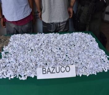 En Montenegro fueron capturados dos sujetos con 3.000 dosis de cocaína y 500 dosis de marihuana
