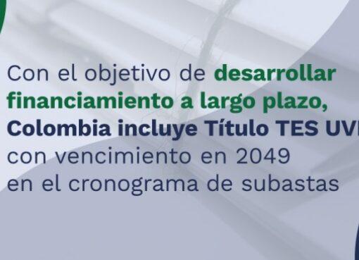 Colombia incluye títulos TES UVR 2049 en programa de subastas