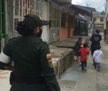 Cuatro menores de edad, quedaron a disposición de la ICBF, porque al parecer, los padres le enseñaban para hurtar elementos en las calle