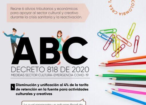 Con el Decreto 818 de 2020 se toman nuevas medidas como la exclusión del IVA a los servicios artísticos