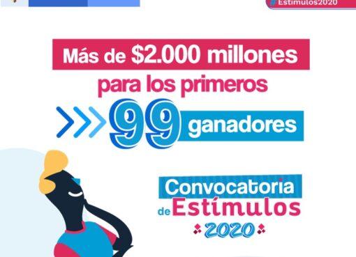 El Ministerio de Cultura entregó más de $2 mil millones para los primeros los ganadores de Estímulos 2020