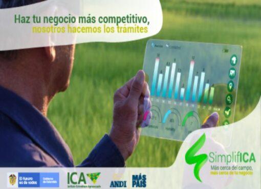 Con la aplicación SimplifICA, el gobierno nacional avanza en la transformación digital del ICA para brindar mejores servicios al agro