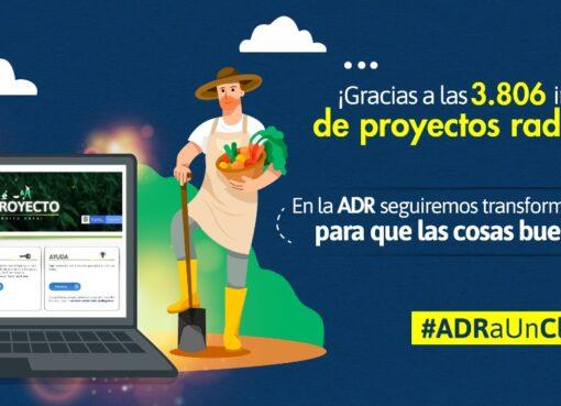 3.806 iniciativas de proyectos rurales fueron inscritas ante la ADR