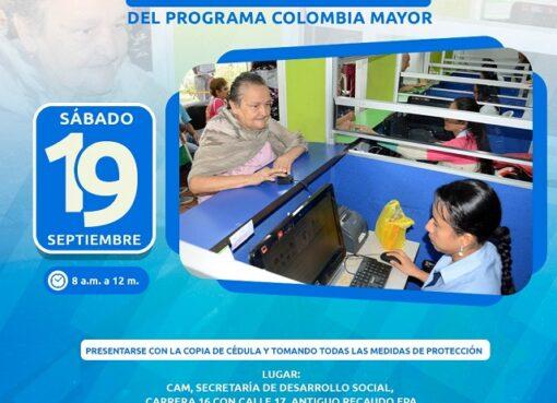 Mañana gran jornada de atención a usuarios suspendidos del Programa Colombia Mayor
