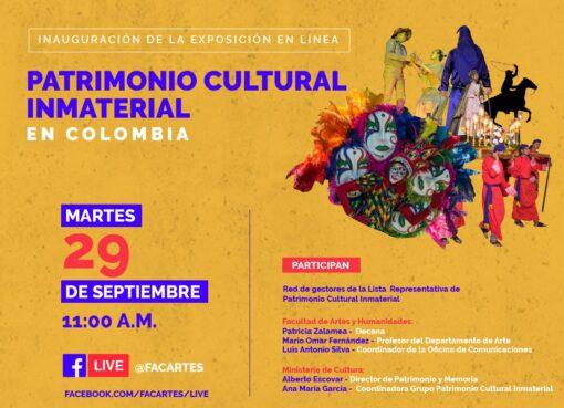 Mañana martes será la inauguración de la exposición en línea del Patrimonio inmaterial