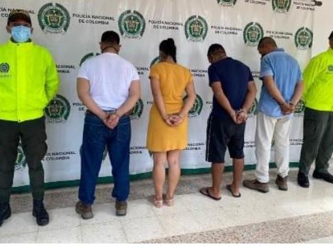 """La Sijín de la Policía en el Quindío, desarticuló el grupo de delincuencia común organizado """"alcanos"""" dedicados al hurto por medios informáticos"""
