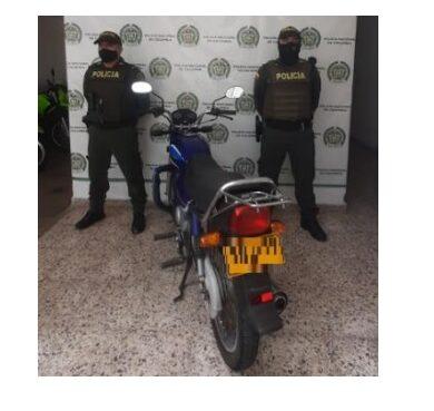 En Montenegro se recuperó una motocicleta que había sido hurtada en Manizales