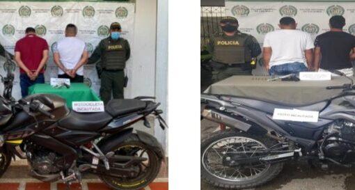 Cuatro sujetos fueron capturados portando armas de fuego, en operativos en diferentes municipios del Quindío