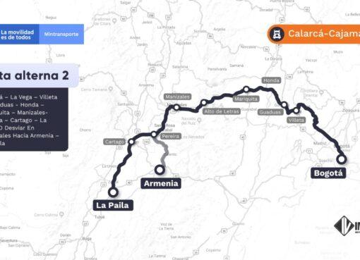 Se mantiene cierre nocturno en la vía Calarcá – Cajamarca hasta el 15 de agosto