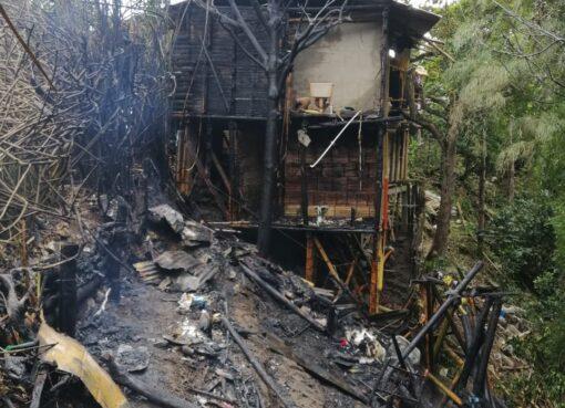 Dos familias e igual número de viviendas afectadas en incendio estructural en Gibraltar