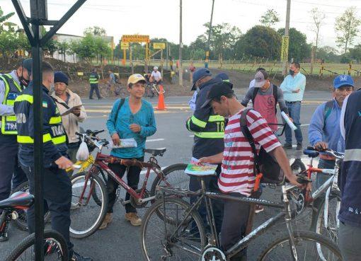 Agencia Nacional de Seguridad Vial busca que ciclistas quindianos mejoren su manera de manejar