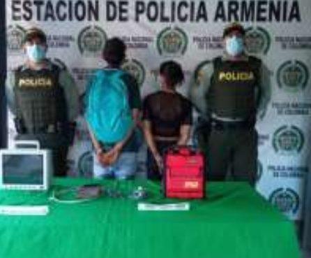 Policía capturó dos personas que habían hurtado elementos de una ambulancia avaluados por más de $14 millones